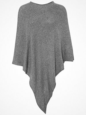 Pieces RIKKI Poncho light grey melange