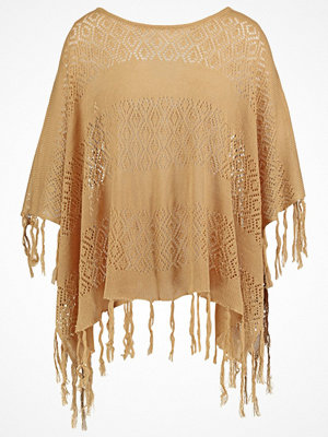 Pieces PCTORI Poncho tan