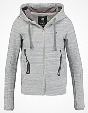 Street & luvtröjor - G-Star GStar VERDAH SLIM FIT HDD VEST L/S Sweatshirt grey htr
