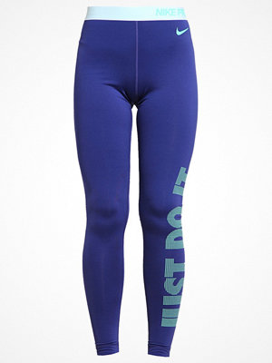 Nike Performance Tights dark purple dust/white/green glow