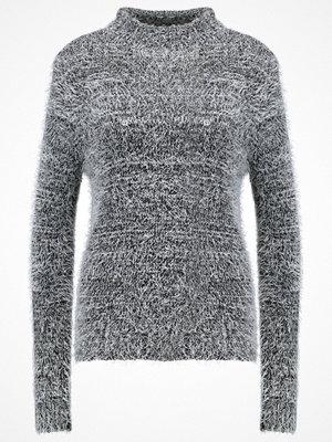 Even&Odd Stickad tröja light grey melange