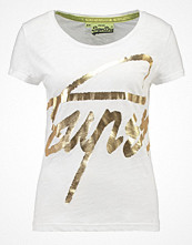 T-shirts - Superdry Tshirt med tryck white/gold