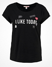 T-shirts - Tom Tailor Denim Tshirt med tryck black