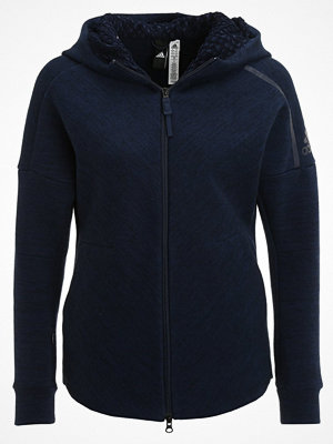 Street & luvtröjor - Adidas Performance Z.N.E. TRAVEL Sweatshirt storm heather/coll navy