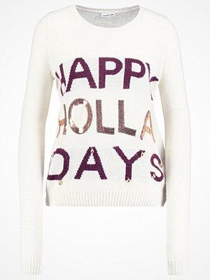 Noisy May NMBELLY Stickad tröja snow white/decadent chocolat