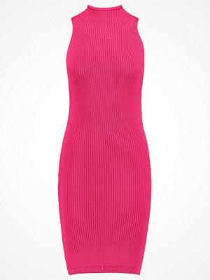 Topshop Stickad klänning pink