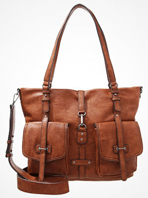 Tamaris brun shopper BERNADETTE Shoppingväska cognac