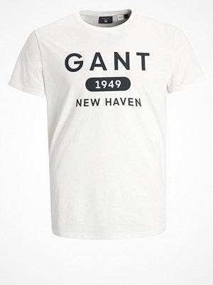 Gant ATHLETICS  Tshirt med tryck egg shell