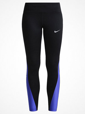 Sportkläder - Nike Performance RACER Tights black/paramount blue/reflective silver
