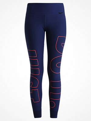 Sportkläder - Nike Performance LEGEND Tights binary blue/max orange/black
