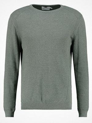Tröjor & cardigans - Topman SLIM FIT Stickad tröja khaki/olive