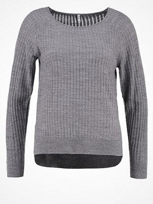Only ONLROSE Stickad tröja medium grey melange