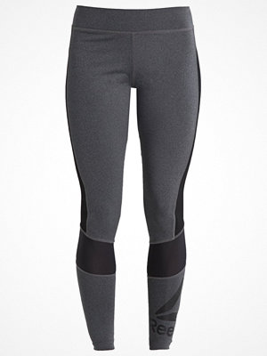 Reebok Tights dark grey heather/black