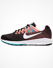Sport & träningsskor - Nike Performance AIR ZOOM STRUCTURE 20 Löparskor stabilitet black/white/lava glow/chlorine blue