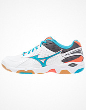Sport & träningsskor - Mizuno WAVE TWISTER 4 Indoorskor white/atomic blue/fiery coral