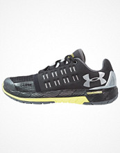 Sport & träningsskor - Under Armour CHARGED CORE Aerobics & gympaskor black/smash yellow/metallic silver