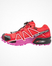 Sport & träningsskor - Salomon SPEEDCROSS 4 GTX Löparskor terräng poppy red/barbados cherry/black