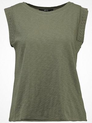 Replay Tshirt med tryck dark green
