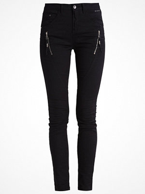 Cream BIBIANA  Jeans slim fit unwashed pitch black