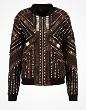 Missguided PEACE + LOVE Bomberjacka black/gold