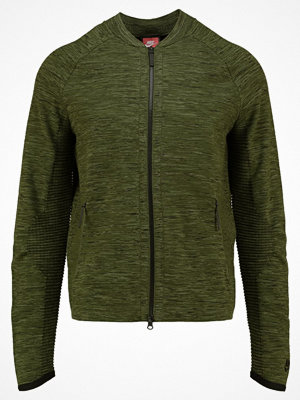 Street & luvtröjor - Nike Sportswear TECH Sweatshirt legion green/black