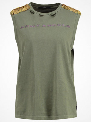 Replay Tshirt med tryck olive