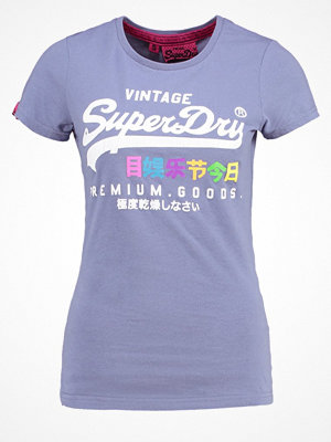 Superdry PREMIUM GOODS RAINBOW Tshirt med tryck foam blue