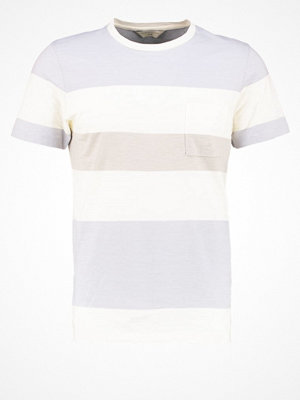 Selected Homme SHHRUNE  Tshirt med tryck papyrus/forever blue