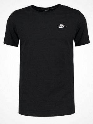 Nike Sportswear CLUB EMBROIDERY  Tshirt bas black/black/white