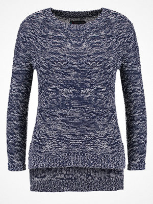 Even&Odd Stickad tröja blue/offwhite
