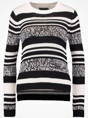 Even&Odd Stickad tröja black/offwhite