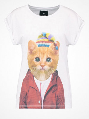 Saint Noir LITTLE CAT Tshirt med tryck white