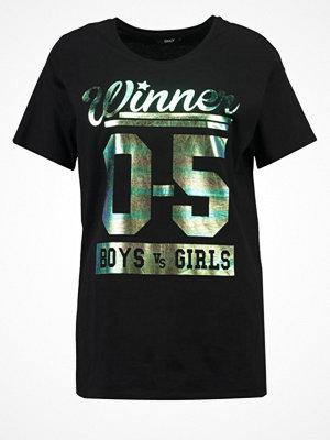 Only ONLWINNER  Tshirt med tryck black