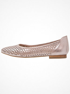 Caprice Ballerinas rose metallic