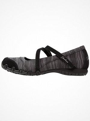 Skechers BIKERS RIPPLES Ballerinas med remmar black