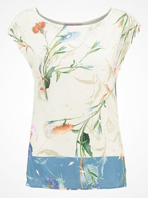 Anna Field Tshirt med tryck offwhite/blue
