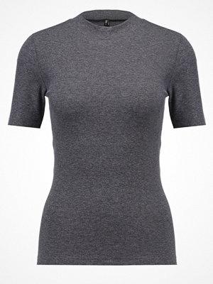 Only ONLMAJA Tshirt med tryck dark grey melange