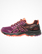 Sport & träningsskor - Asics GELSONOMA 3 GTX Löparskor terräng dark purple/black/flash coral