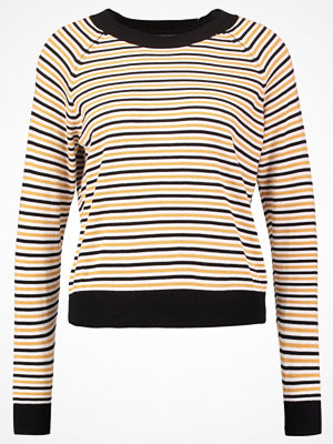 TWINTIP Stickad tröja black/white/mustard