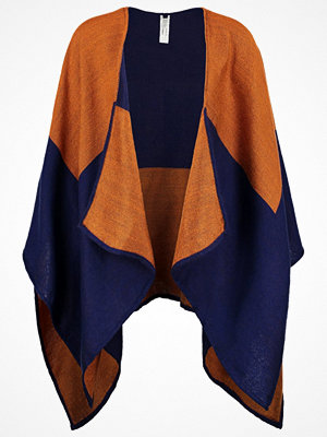 Benetton Poncho blue/orange