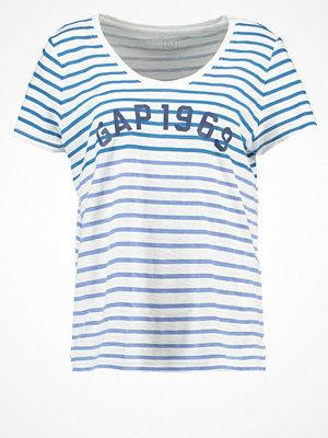 GAP Tshirt med tryck blue stripe
