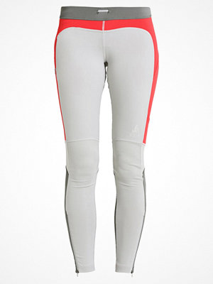 ODLO HIKE                Tights platinum grey/bittersweet/steel grey