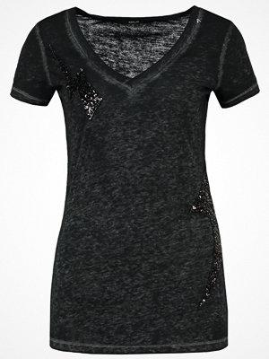 Replay Tshirt med tryck mottled black