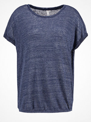 Q/S designed by Tshirt med tryck blue