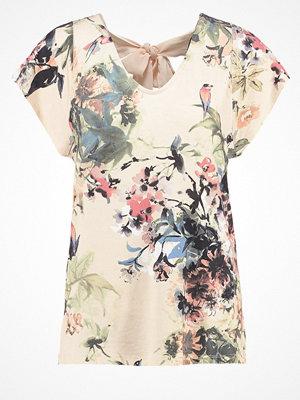 Cream ROSEMARY Tshirt med tryck pink tint