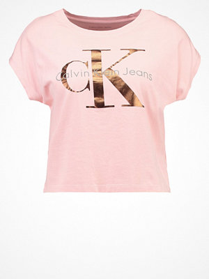 Calvin Klein Jeans TAKA Tshirt med tryck pink