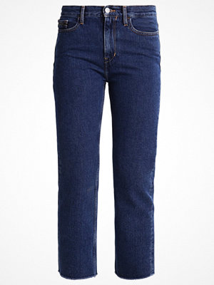 Jeans - Calvin Klein Jeans HIGH RISE STRAIGHT CROPPED STONEY Jeans straight leg denim