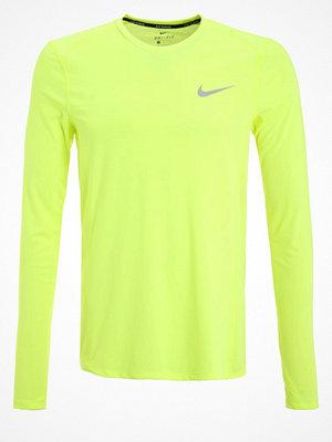 Sportkläder - Nike Performance MILER Tshirt långärmad volt/reflective silver
