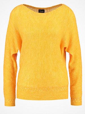 Vila VIKNITTI Stickad tröja cadmium yellow