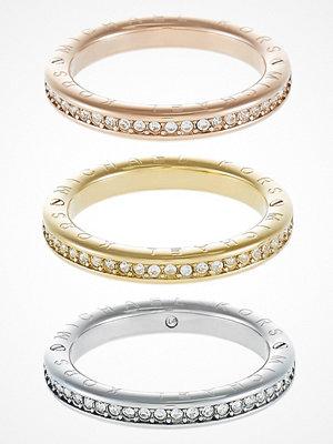 Smycken - Michael Kors ICONIC 3 PACK Ringar goldcoloured/rose goldcoloured/silvercoloured